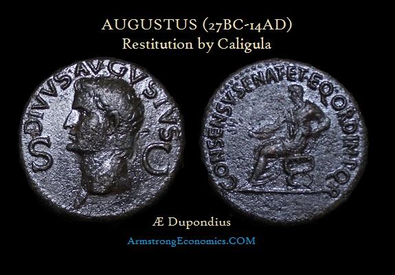 Augustus AE Dupondius by Caligula Restitution