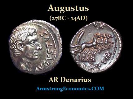 Augustus AR Denarius - R