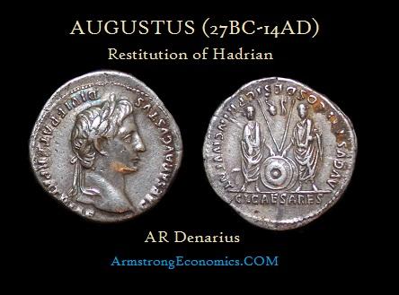 Augustus by Hadrian AR Denarius Restitution