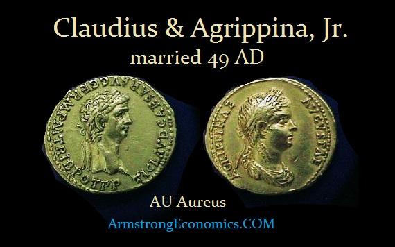 Claudius & Agrippina AU Aureus