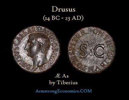 Drusus AE As by Tiberius