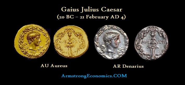 Gaius Caesar Aureus Denarius