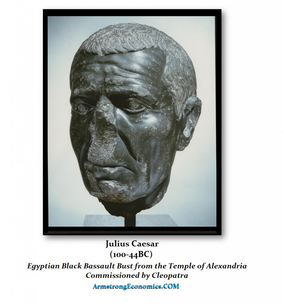 Julius Caesar Egyptian Black Bassault Bust Commissioned by Cleopatra Temple Alexandria
