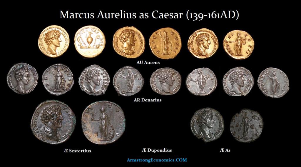 MARCUS AURELIUS - CAESAR DENOMINATIONS-R