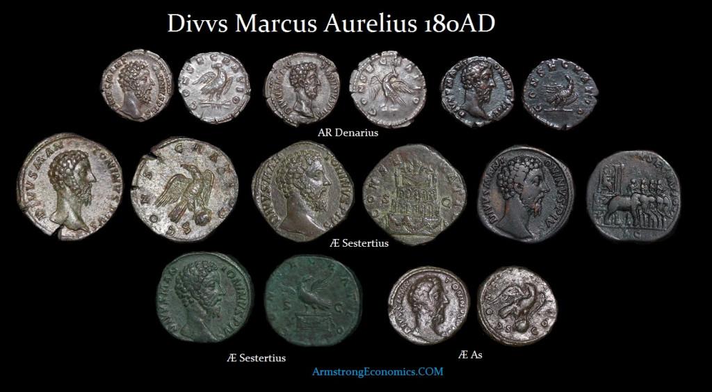 MARCUS AURELIUS DIVO DENOMINATIONS - R