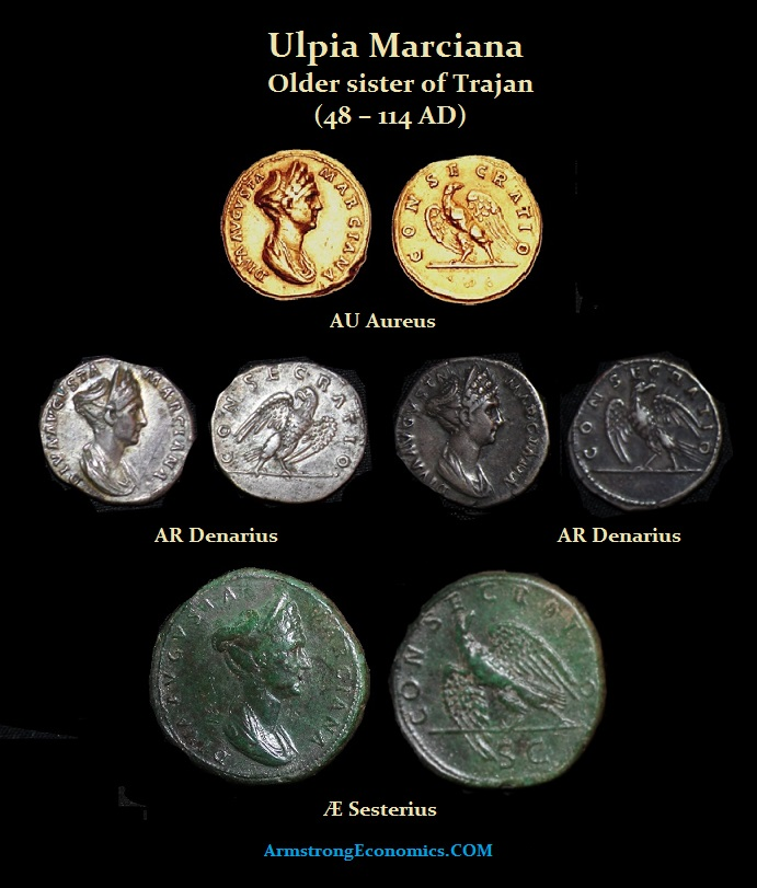 Marciana Aureus Denarius Sesterius