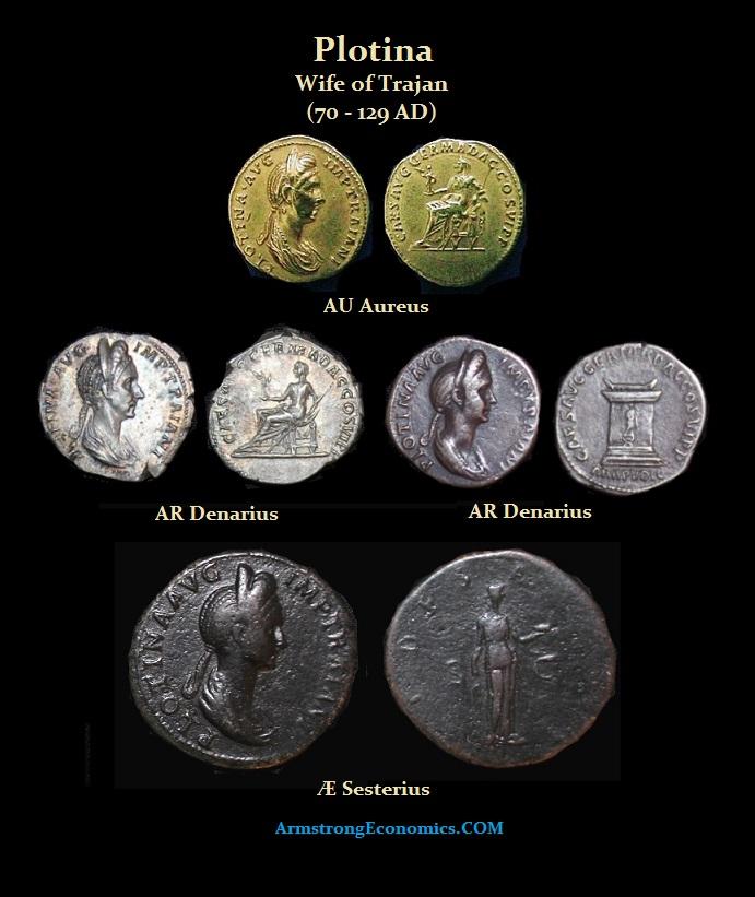 Plotina Aureus Denarius Sesterius