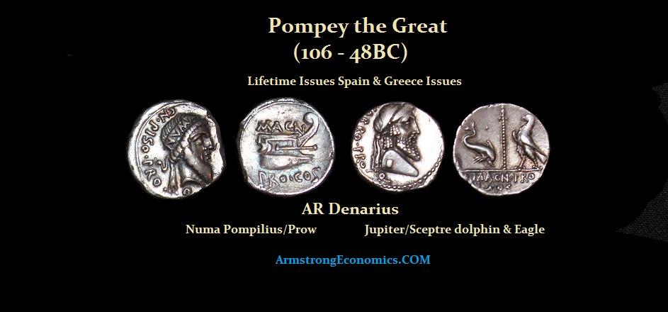 Pompey the Great Lifetime AR Denarius - R