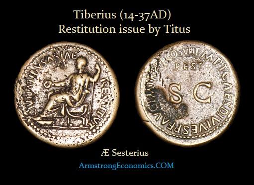 Tiberius AE Sesterius by Titus-R