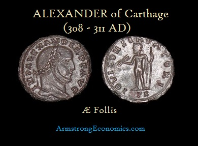 ALEXANDER OF Carthage AE FOLLIS -R