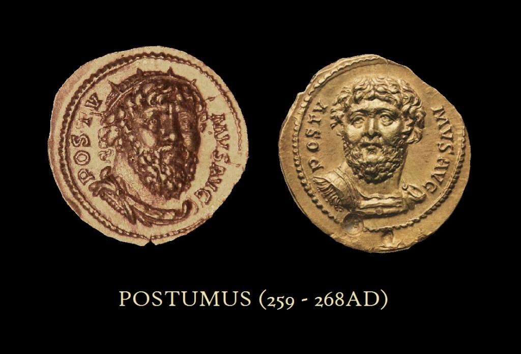Postumus Facing AU Aureus Portraits