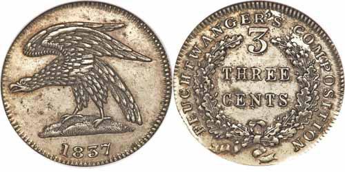 1837 Feuchtwanger Three Cent