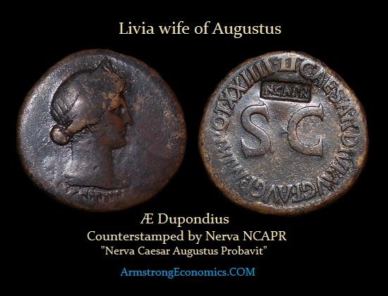 Livia Dupondius NCAPR Counterstamp -R