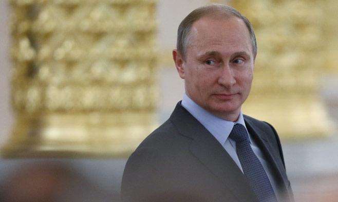 Putin smiling