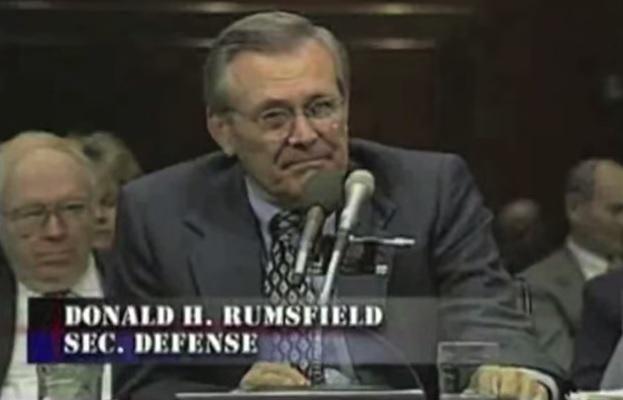 Rumsfeld-Testifying