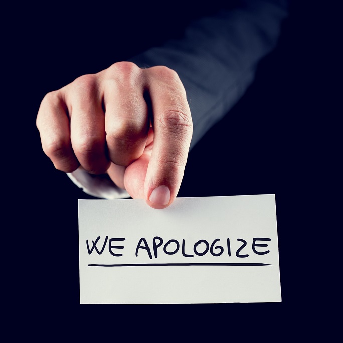 We do Apologize