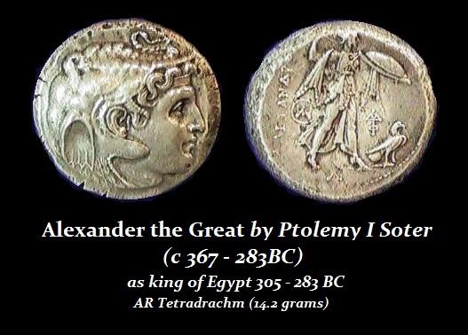 Ptolemy-I Tetradrach portrait Alexander