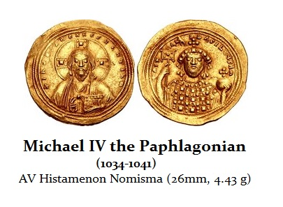 Michael IV the Paphlagonian. 1034-1041. AV Histamenon Nomisma (26mm, 4.43 g, 6h)