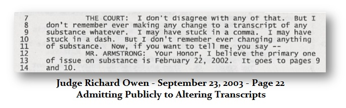 Owen Changing Transcripts