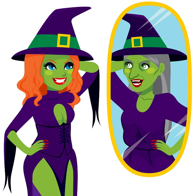 Witch in Mirror