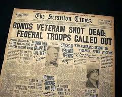 Bonus-Army-Newspaper Account