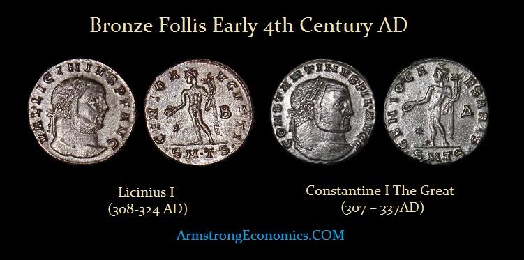 Constantine Licinius Follis - R