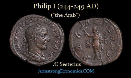 Philip I AE Sesterius -R