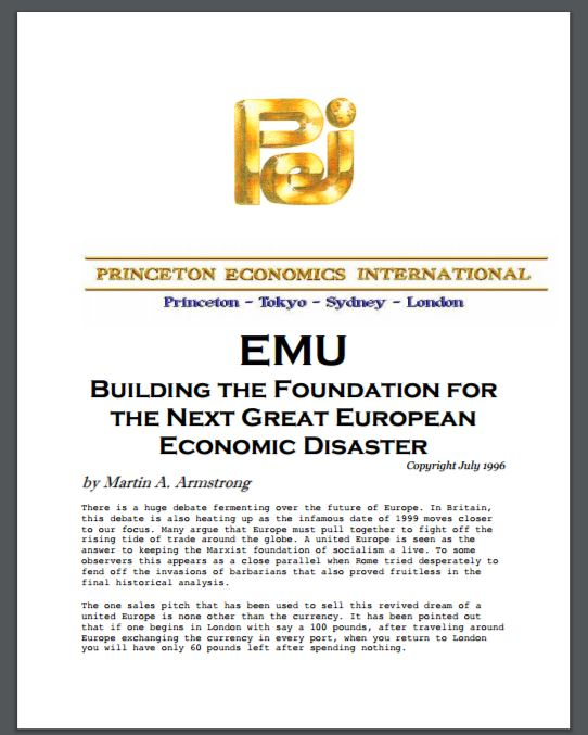 1-EMU Building the Foundation for the next great european economic disaster