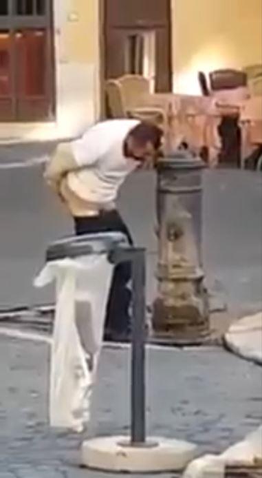 Man Washes Ass