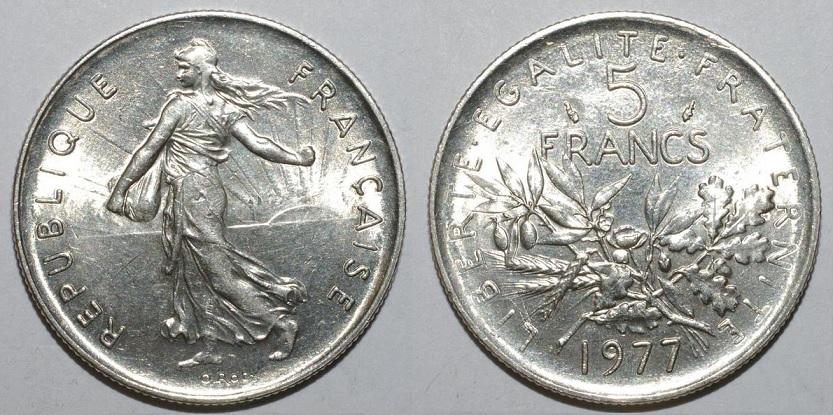 5 Francs 1977 5th Republic of France